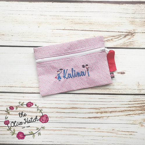 Poppins - Makeup Bag - Pencil Bag - Red