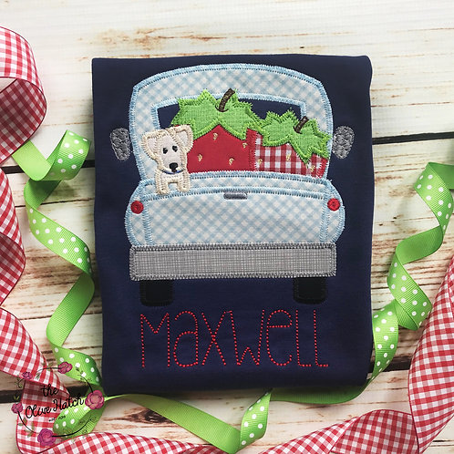 Strawberry Truck Applique