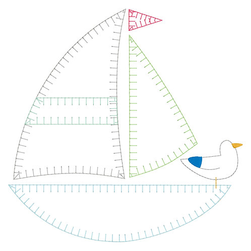 Boat Applique Design Shirt