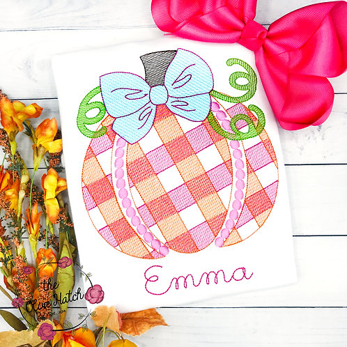 Pumpkin Sketch Embroidery