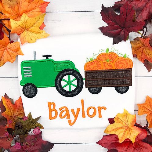Pumpkins Tractor Shirt