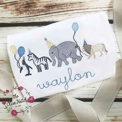 Animal Parade Baby Set --Sketch  Embroidery