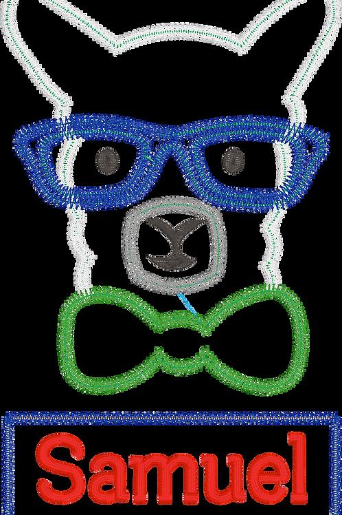 Llama Boy Zig Zag Applique Design