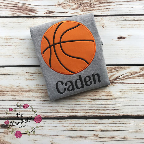 Basketball Birthday Applique