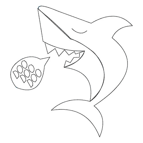 Shark Applique Design Shirt