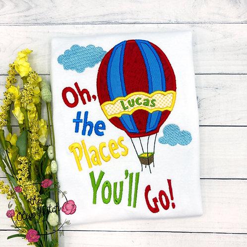 The Places You'll Go! Applique