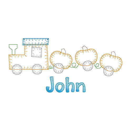 Fall Train Design-- Applique