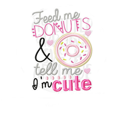Feed Me Donuts Applique Shirt