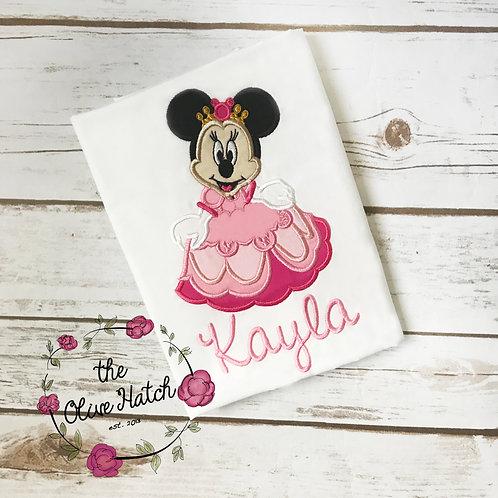 Mouse Princess Shirt -- Applique