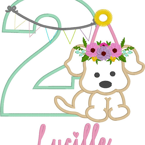 Puppy Birthday Applique