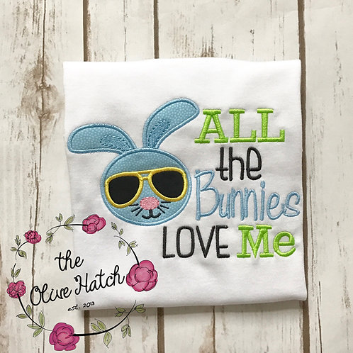 All the Bunnies Love Me Applique