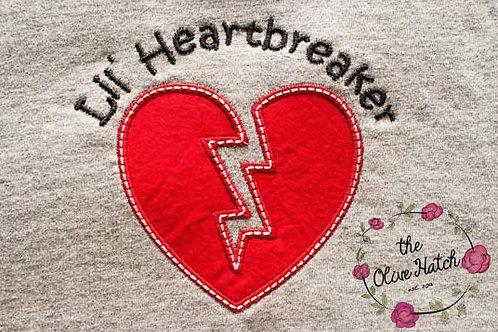 Heart Breaker Tee Applique