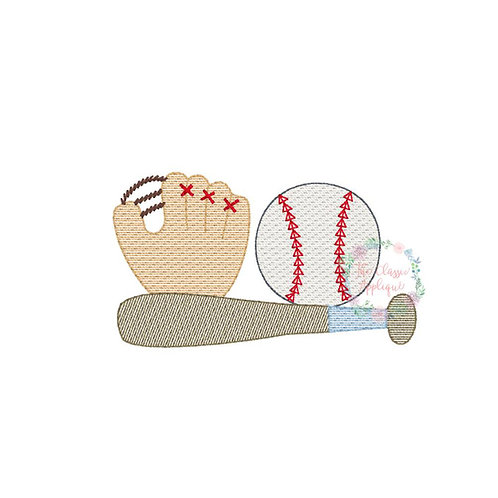 Baseball Embroidery Design Shirt