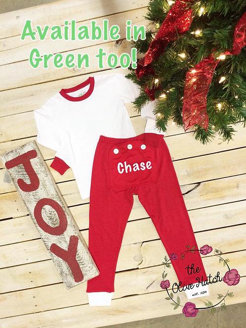 Holly Jolly Jammies Two Piece - Personalized Pajamas