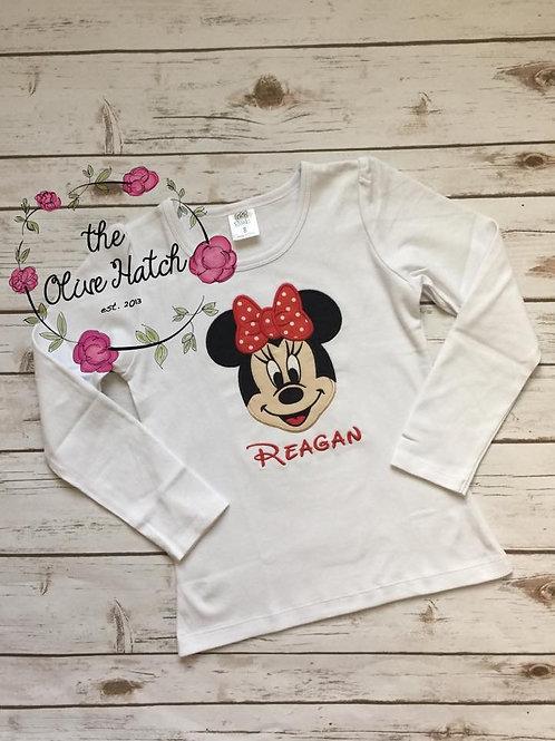 Girl Mouse Shirt -- Applique
