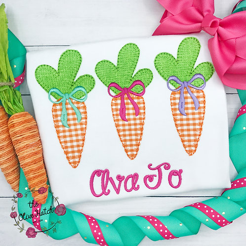 Easter Carrots Applique