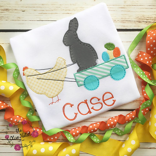 Easter Chicken and Bunny Applique