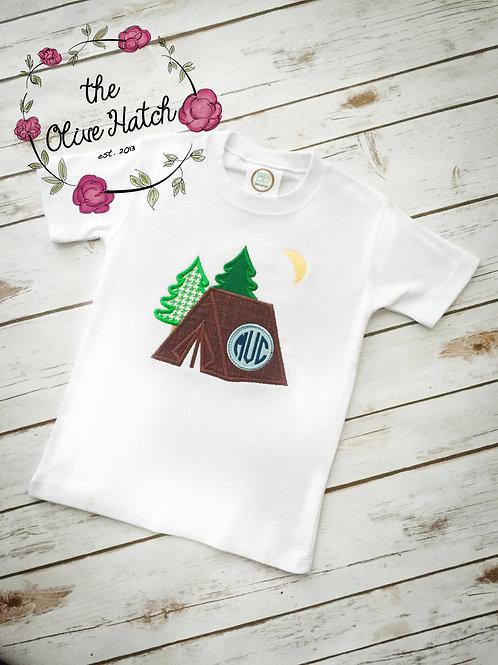 Camping Applique Shirt