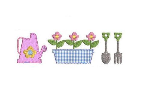 Gardening Applique Trio