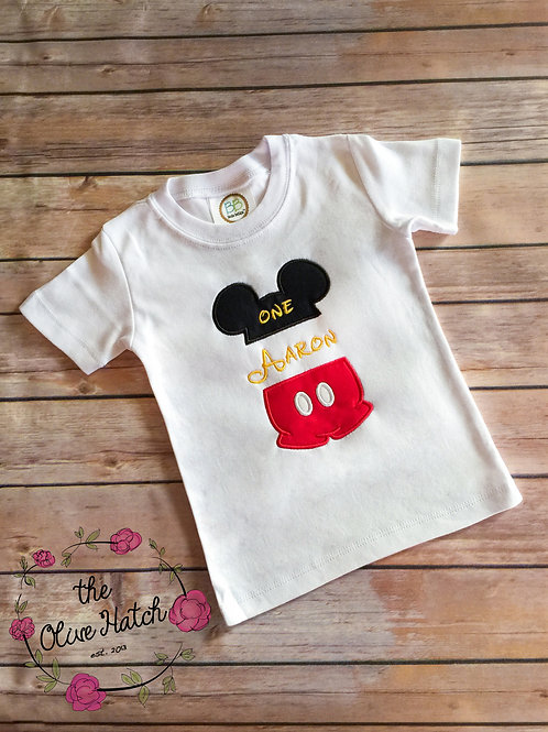 Mouse Half Applique