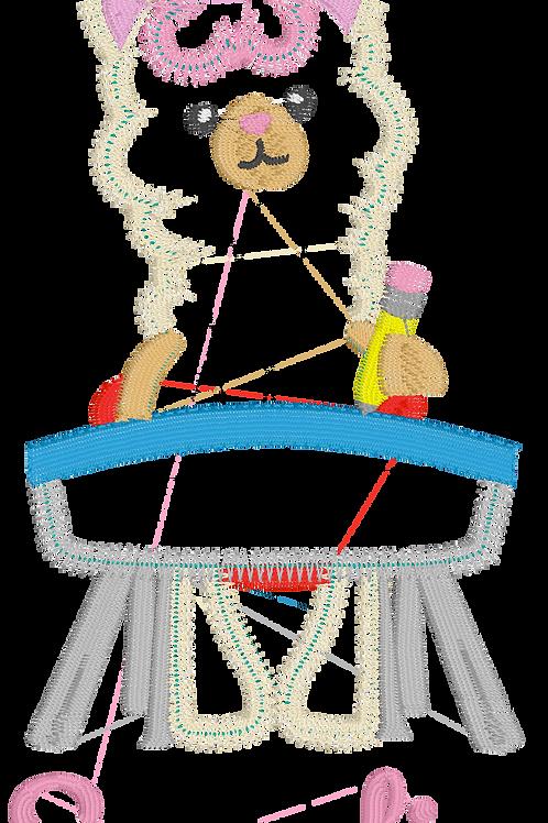 Llama Llama Back to School ZigZag Stitch Design -- Applique