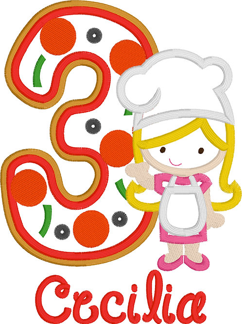 Pizza Birthday Applique