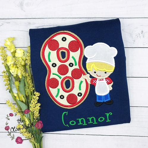 Pizza Chef Birthday Shirt