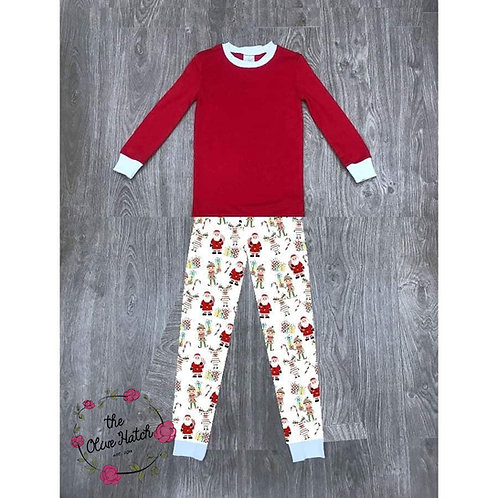 Christmas Pajamas-Elf, Reindeer, Santa