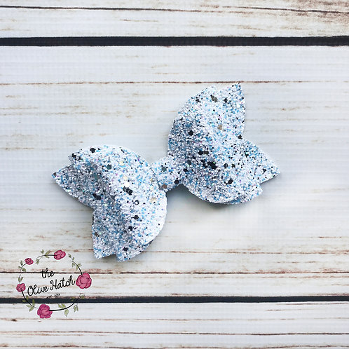Frozen Glitter Bow Double Stack