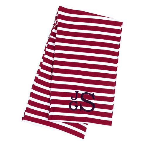 Infinity Scarf- Garnet Stripes