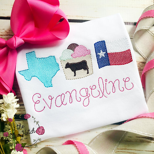 Texas Favorites Sketch Design