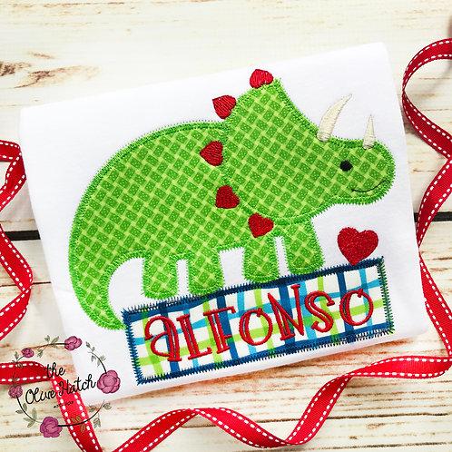 Valentine Dino Applique