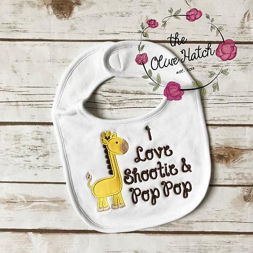 I love Shootie and Pop Pop Bib