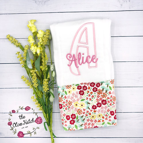 Floral Burp Cloth