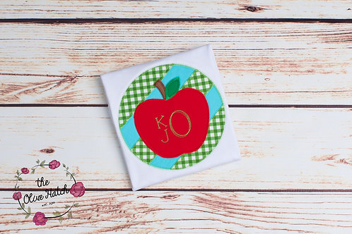 Apple Back to School Zig Zag Design - Applique