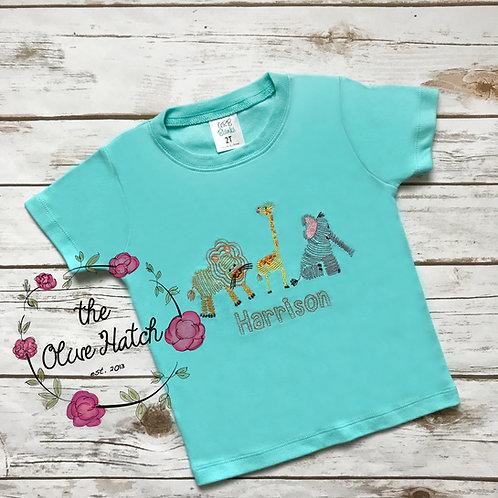 Jungle Trio Embroidery Shirt