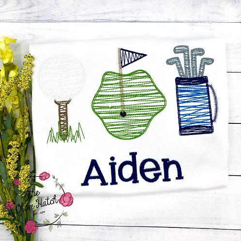 Golf Trio Embroidery Shirt
