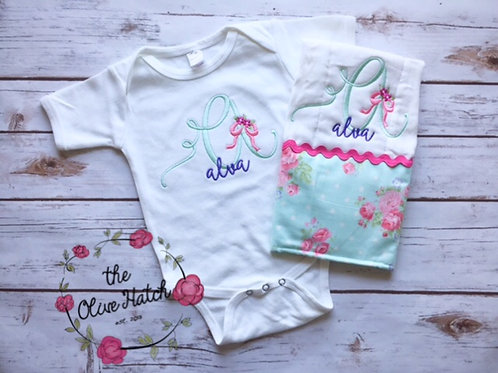 Floral Baby Outfit