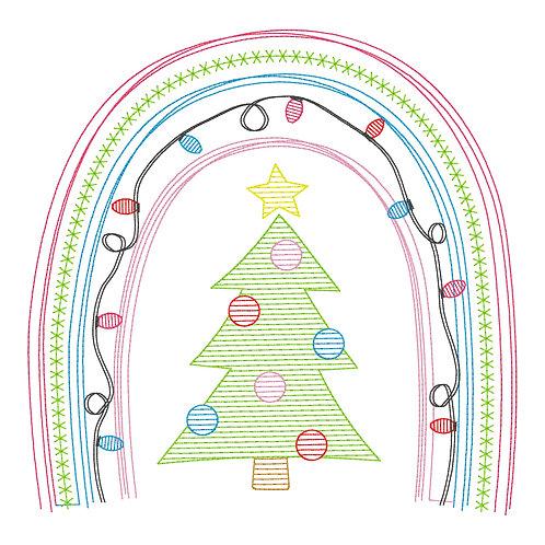 Christmas Tree Sketch Design Shirt