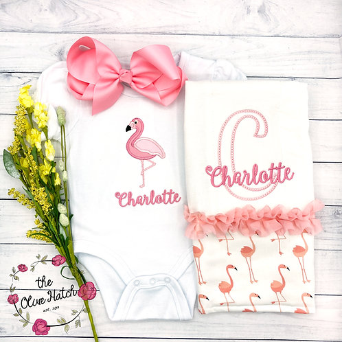 Flamingo Baby Outfit