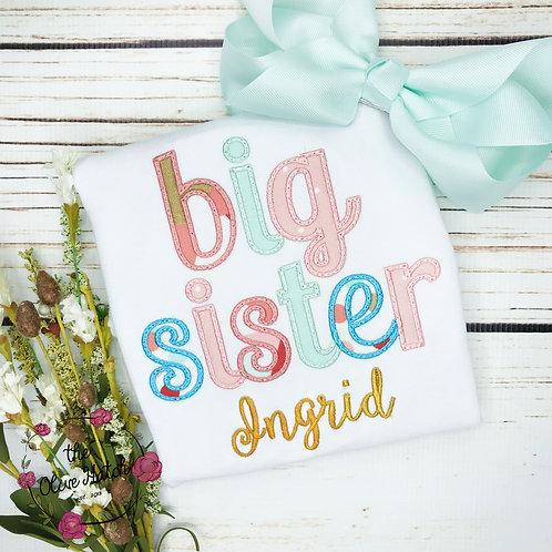 Big Sister Applique