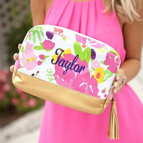 Monogram Accessory Bag - Hostess - Bridal - Birthday - Cosmetic Bag - Embroidery