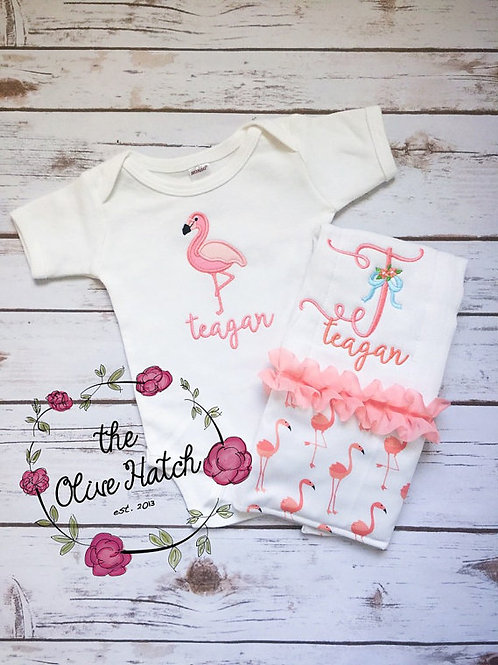 Flamingo Baby Outfit 2