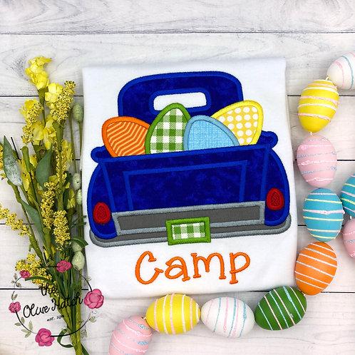 Easter Truck w/ Eggs Applique