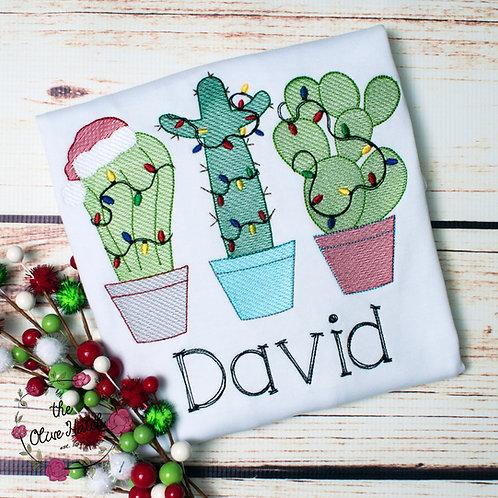 Christmas Cactus Sketch Design