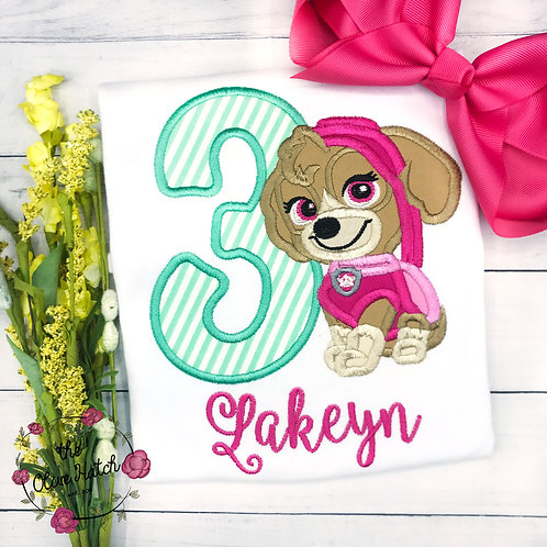 Skylar Birthday Applique