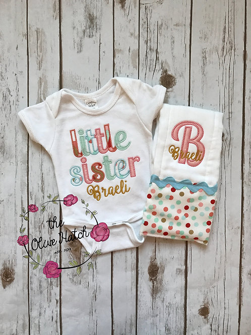 Little Sister Baby Outfit