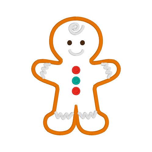 Gingerbread Boy Applique