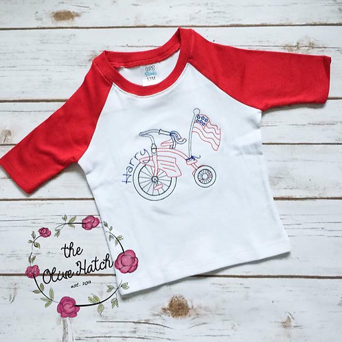 Tricycle Patriotic Shirt -- Embroidery