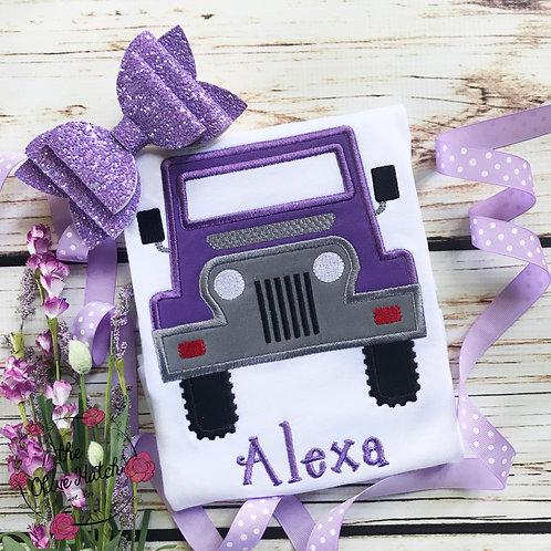 Purple Jeep Shirt -- Applique